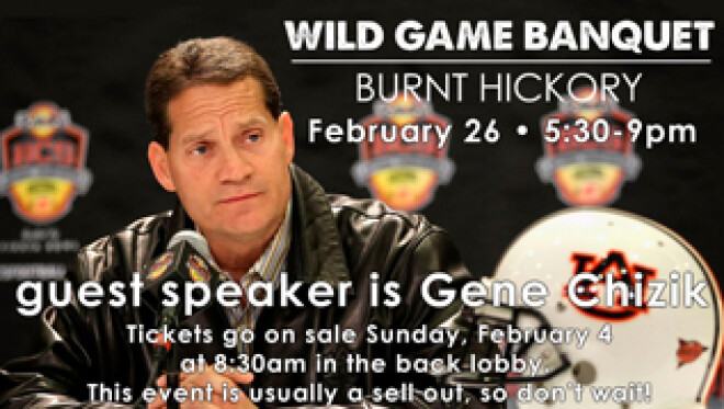 Annual Men's Wild Game Dinner and Pre-Party