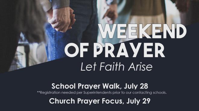 Weekend of Prayer 2018